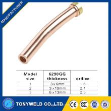 Precio barato para la boquilla de corte de gas de cobre 6290GG