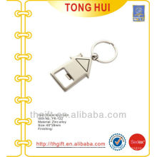 Metal House shape bottle opener making keychains