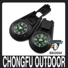 Chongfu Black outdoor Zipper Ends Lock with Compass