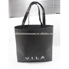 2015 hot sell black non woven hole bags /printed shoulder bags