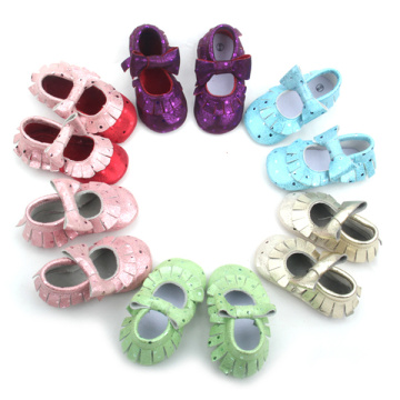 Fashion Styles Baby Shoes Cute Purple Leather Moccasins