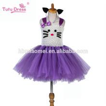 Vestido del tutú de las muchachas del bebé Vestido de princesa Ball Kids Party Tulle Vestido de danza para niños Vestidos de niña de las flores de la boda del cumpleaños