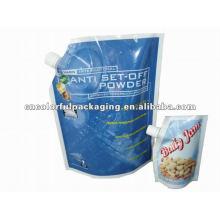 O costume do leite de soja Doypack costume / não impresso da energia bebe ou levanta-se o malote do bico com alta qualidade