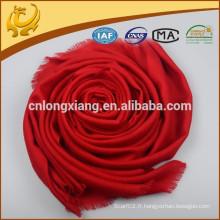 Nouveau style Tissé Pattern Plain Instant Pashmina Châle et écharpe, 100% laine Chevron Wrap Shawl