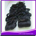 18 inch Blonde color curly weave extension clip in clip hair extension curly