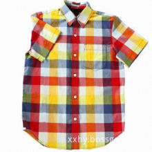 Children's washed shirt, made of 100% cotton, comfortable to wear