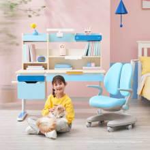 Escritorio IGROW para niños, silla ergonómica de madera maciza, escritorio