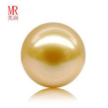 Pérolas de ouro dourado de 12 milímetros em pérolas soltas