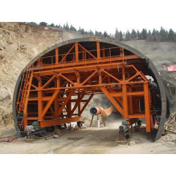 Sistema de encofrado de carro de revestimiento de túnel ferroviario