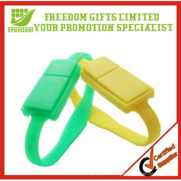 High Quality Colorful Custom Silicone Wristbands USB Flash Drive