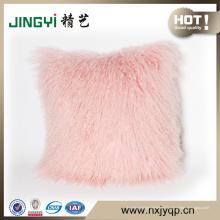 Gros Long bouclés cheveux décoratifs fourrure d'agneau mongole jeter oreillers