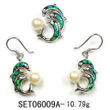 Jewelry Set-Opal Silver Jewelry (YS00016)