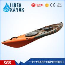 Assento único barato sentar-se em caiaque de pesca superior 4.3m Adicionar Motor Disponível