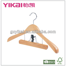 wooden clothes hanger with BSCI,FSC,BRC