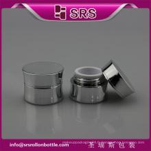 SRS échantillon gratuit argent couleur plastique 5ml acrylique cosmétique petit gel uv gel