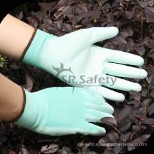 SRSAFETY 13G Нейлоновые трикотажные Покрытые белые PU ладонные перчатки