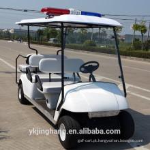 Carrinho de golfe da polícia de 4 + 2 assentos