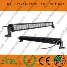 Barra de luz LED de 40 piezas * 3W, barra de luz LED de 21 pulgadas y 120W, barra de luz LED Creee de 3W para camiones