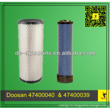 Parts 47400040 & 47400039 Doosan Air Filter For Doosan
