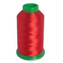 Linha 100% do bordado da cor da fibra de poliéster feita em China