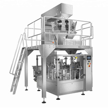 Automatic 10 Head Weighing Filling Sealing Packaging Machine For Snack Food Granule Bag Packing