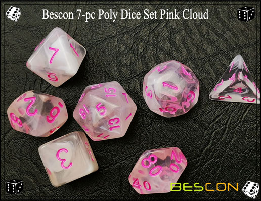 Pink Cloud Dice Set-5
