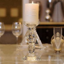 Eleganter Glaskerzenhalter aus europäischem Glas zur Dekoration