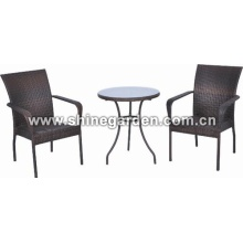 3 Piece Wicker Patio Set-all-weather wicker dining set