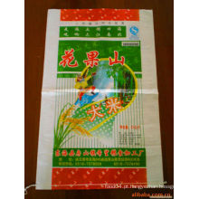 Bopp filme laminado pp sacos de arroz tecidos