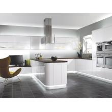 White kitchen peninsula excellent design modern handleless lacquer kitchen cabinets