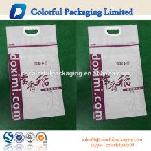 bolsos de arroz 5kg resellables impresos personalizados con mango