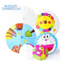 Atacado moda crianças multiuso diy personalizado cor branca chinês guarda-chuva de papel de óleo para decoração de casamento parasol