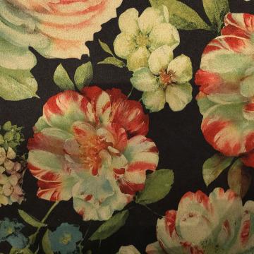 Impression de fleurs à la mode Tissu en daim pour vêtement