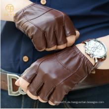 Mode fingerlose Lederhandschuhe für Herren