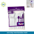Dollar Items of 48pc Plastic Disposable Cutlery Set