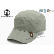5 Panels Customarmy Hat Military Cap avec étiquette de patch tissée
