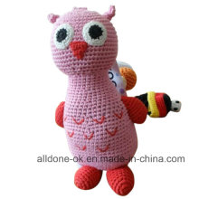 Cute Design Hand Crochet Baby Kid Owl Toy  Doll
