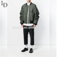 Fashion style Military green winter coat thicken bomber jacket for men