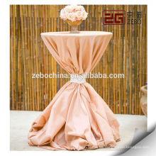 100% poliéster personalizado Decotation colorido de lujo de la boda de mesa de tela
