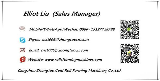 name card keel roll forming machine1