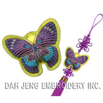 Festival Embroidered Sachet With Chinese Lucky Knotes-Butterfly