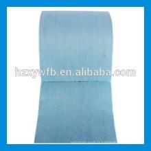 Traverser le rouleau de tissu non-tissé de pulpe en bois de pulpe de polyester de viscose / parallèle