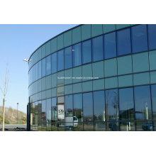 Mur de rideau en verre à structure cachée en aluminium à séparation thermique série 170