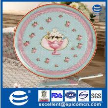 Ensemble gâteau en porcelaine décoration rose sucré au style turc