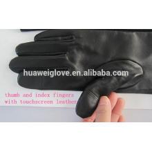Classical Mens Touchscreen Winter Itouch Leather Gloves Wearing