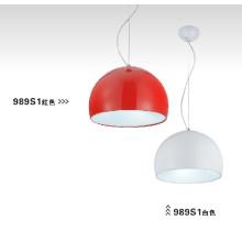 Iluminación Pendnat de acero al carbono Buena para el hogar, restaurante (989S1)