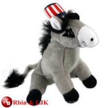Conozca EN71 y ASTM estándar ICTI juguete de peluche de fábrica al por mayor juguete de felpa burro