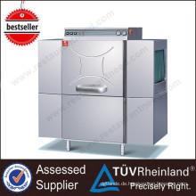 Volle Reihe Luxus-industrielle Spülmaschine-Hotel-Küchen-Ausrüstungs-elektrische Förderband-Spülmaschine