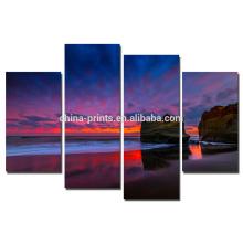 Impresión de la lona de la foto del paisaje del mar / arte natural de la pared para el arte de la lona de la decoración / del grupo