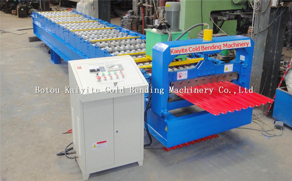 Hydraulic Cutting steel Roller Shutter Door Roll Forming Machine